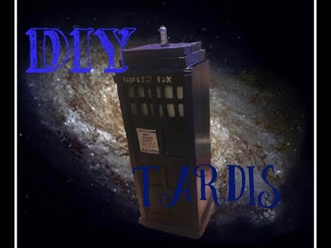 DIY TARDIS FROM CARDBOARD