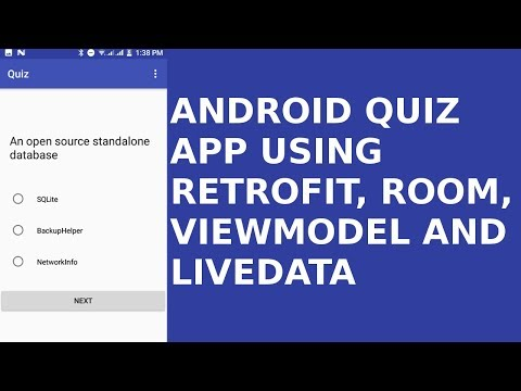 ANDROID QUIZ APP USING RETROFIT, ROOM, VIEWMODEL AND LIVEDATA