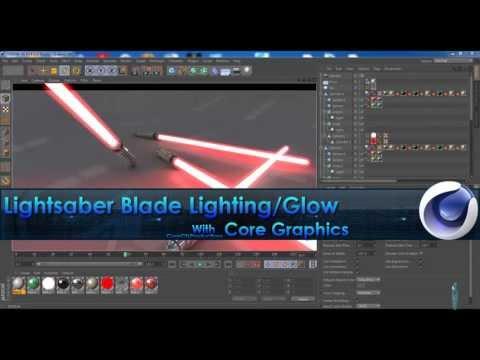 Cinema4D Tutorial - Lightsaber Blade Lighting/Glow