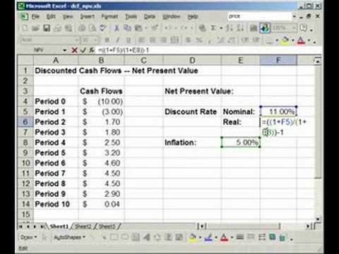 Get the Net Present Value of a Project Calculation - Finance in Excel - NPV()
