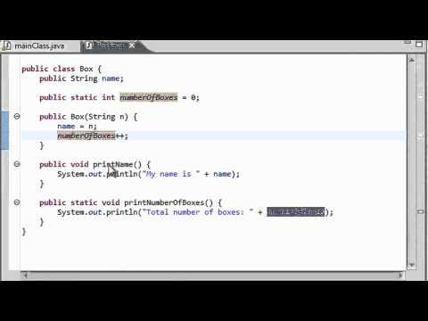 Java Programming - 37 - The static keyword