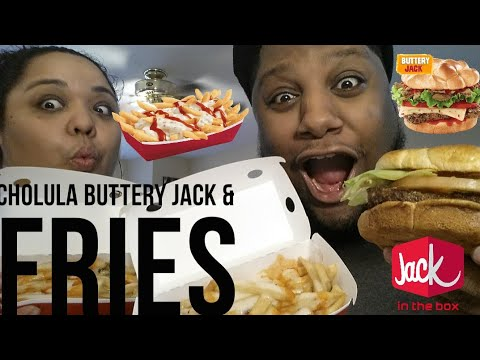 Jack In The Box Cholula Hot Sauce Buttery Jack & Cholula Hot Sauce Fries Food Review