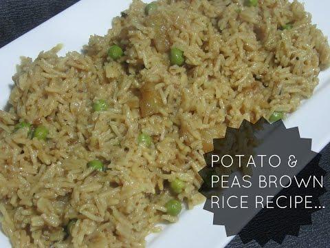 Potato and Peas Brown Rice (Ramadan Day 28)