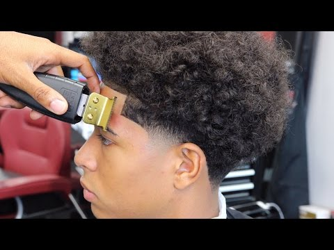 HAIRCUT TUTORIAL: TAPER WITH LONG CURLY HAIR