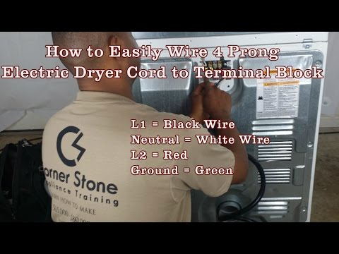 How to Install a 4-Wire Cord on Whirlpool Electric Dryer Terminal Block is Easy