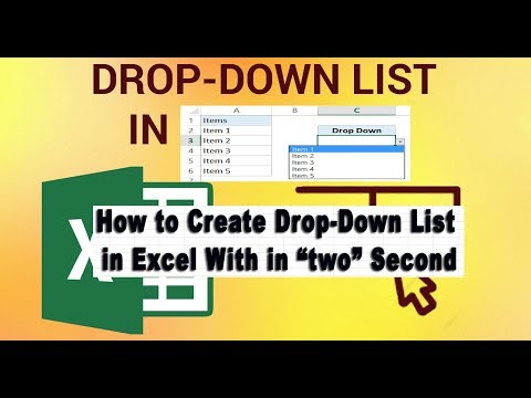 How to Create Drop Down List in Excel With in 2 Second