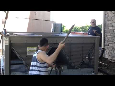 Raise Sunken Air Conditioner Pad Denver (Before)