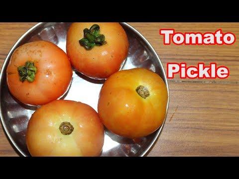 Green Chilli Tomato Pickle At Home in Minutes @ Mana Telangana Vantalu
