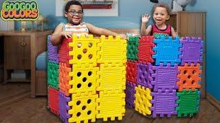 Gaga Baby Pretend Play With Magic Blocks! (Learn To Share with Goo Goo Mom)