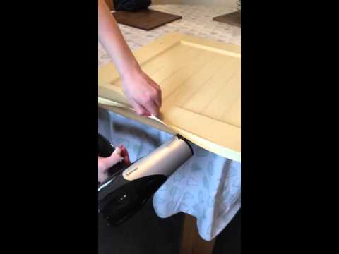 How to make old vinyl plastic covered kitchen cupboards ( cupboard doors )ready for paint