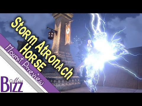 Storm Atronach Horse Mount Preview! Storm Atronach Crown Crate ESO - Elder Scrolls Online