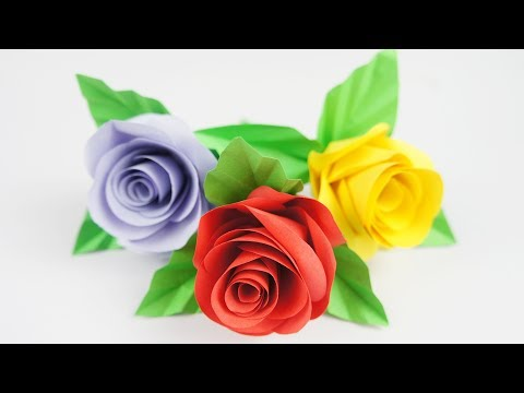 DIY Very Easy Paper Rose  - TCraft