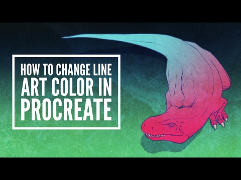 How to Change Line Art Color In Procreate