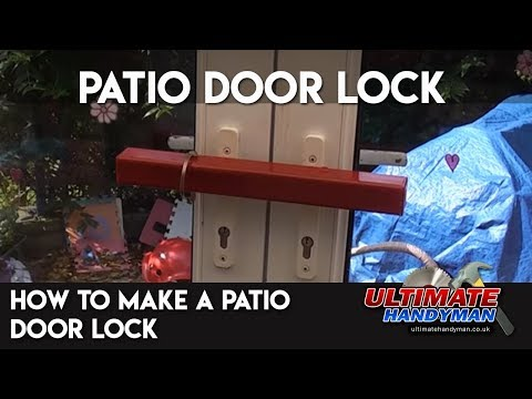 How to make a patio door lock