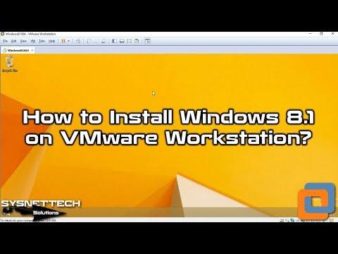 ✅ How to Install Windows 8.1 on VMware Workstation 14 | UEFI Install |VMware Tools Setup |SYSNETTECH