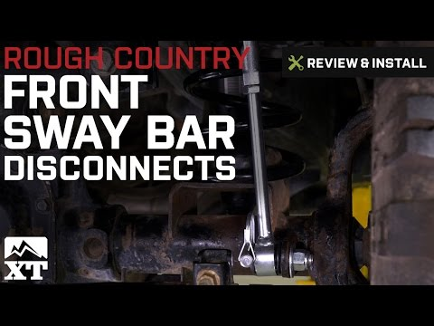 Jeep Wrangler Rough Country Front Sway Bar Disconnects 2.5 in (2007-2017 JK) Review & Install