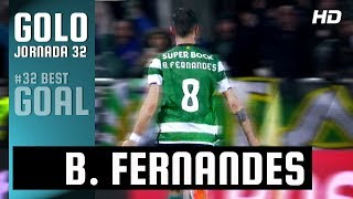 Golo da Jornada (Liga 32ª J): Bruno Fernandes (Sporting)