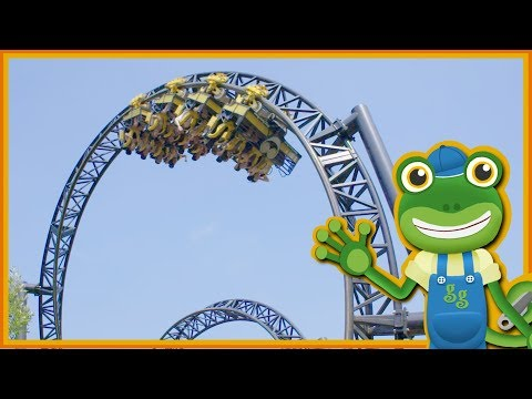 Roller Coasters For Children | Gecko's Real Vehicles