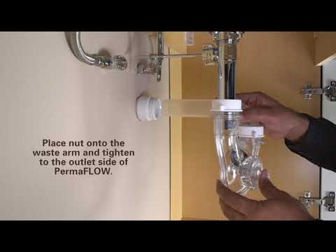 How to Install PermaFLOW No Clog P-Trap by PF WaterWorks - New Install