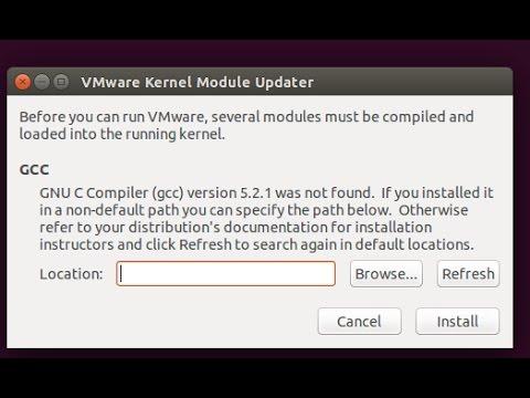 solucion gcc vmware workstation kali linux 2 0 y ubuntu