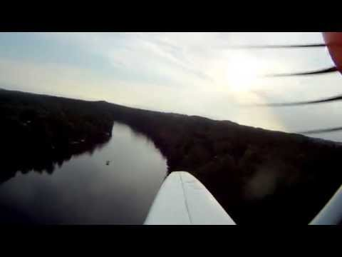 RC Beaver flying down Black River to BRF