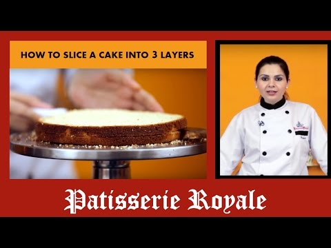 How To Slice A Cake Into 3 Layers By Chef Neha Lakhani | Christmas Special | Royale Patisserie