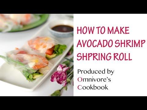 Avocado Shrimp Spring Roll