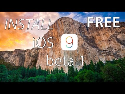 How To Install iOS 9 Beta 1 FREE WITHOUT UDID