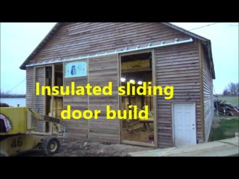 Insulated sliding door build
