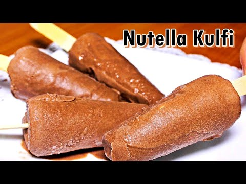 Nutella Kulfi Popsicles Recipe | Homemade Kulfi Recipe | Kids Favorite Kulfi | Kanak's Kitchen