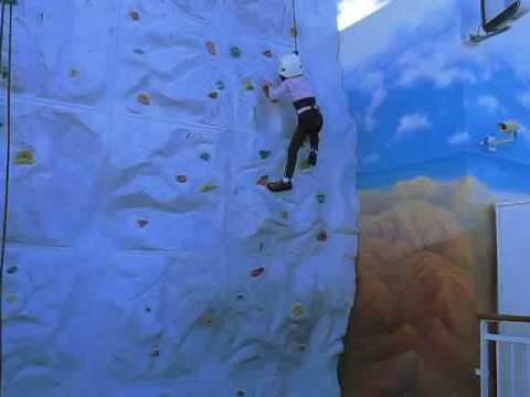 Jasmine Luke Rock Climbing in NLC Norwegian Pearl on 11-24-2009