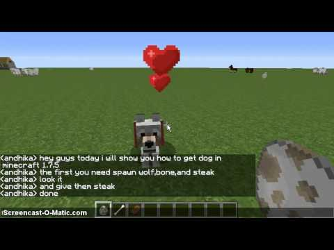 How to get a Dog in Minecraft 1.7.5