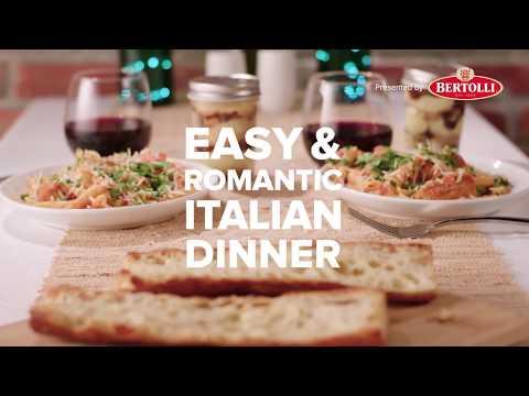 Easy And Romantic Italian Dinner With Bertolli