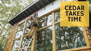 Cabin Cedar in the Rain - Cabin Build Ep.33