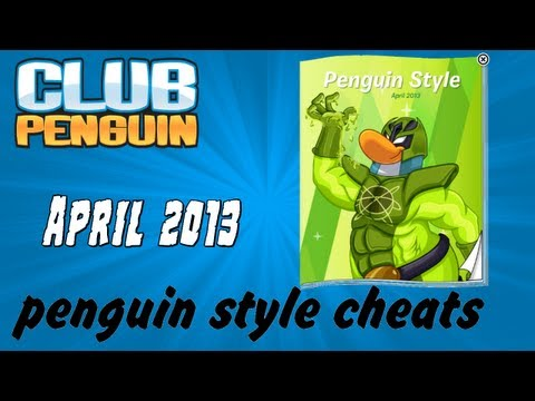 Club Penguin - April 2013 Clothing Catalog Cheats