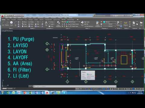 The application command for calculating of Autocad