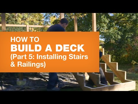 HOW TO BUILD A DECK PART 5: STAIRS & RAILINGS