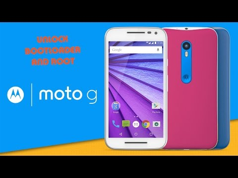 How to Unlock the bootloader and Root Motorola moto g 3  2015  xt1550