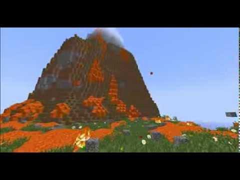 Real Erupting Volcano In Minecraft