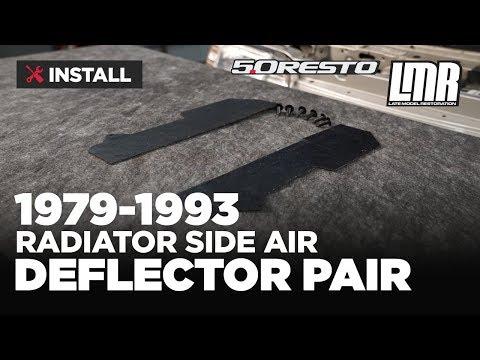 1979-1993 Mustang 5.0 Resto Radiator Side Air Deflectors - Install & Review