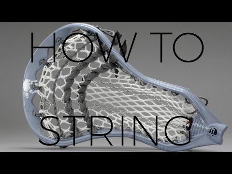 How to String |  ECD Hero Color Striker + Low Pocket + STX Super Power Lacrosse Head