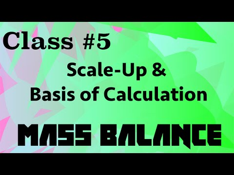Scale-up and Basis of Calculation // Mass Balance Class 05