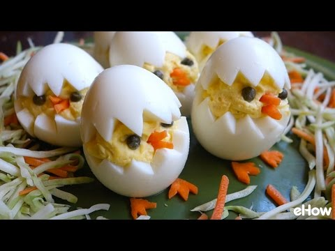 Super Cute Easter Chick Deviled Eggs