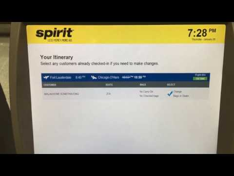 How check in and print out ticket of Spirit Airline Kiosk
