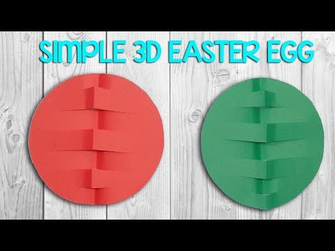 How to make Simple 3D Paper Easter Egg - Origami Decoration