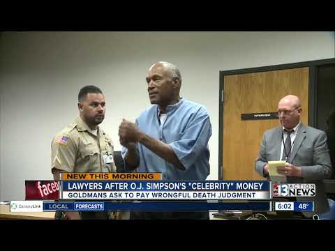 Lawyers chase O.J. Simpson over $70M wrongful death judgment