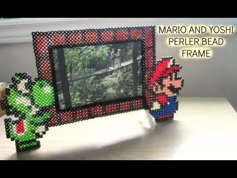 Perler Bead Mario & Yoshi Picture Frame