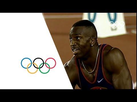 Michael Johnson Breaks 200m & 400m Olympic Records - Atlanta 1996 Olympics