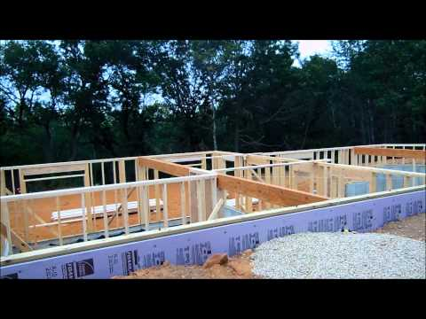Building a log home part 4 -Knee walls and deck
