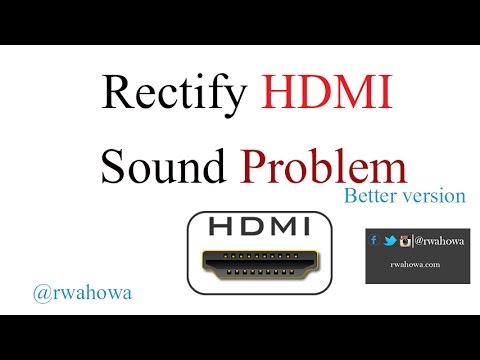 Hdmi device sound fix - making sound come from HDMI device not Computer audio - reupload